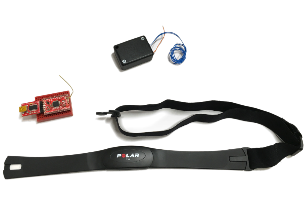 The polar band is able to send a reliable heart pulse even during movement